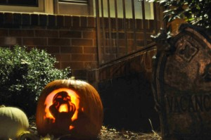 Gravestones, gourds, and a screaming pumpkin