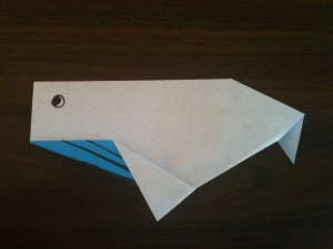 an origami whale
