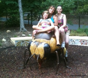 Savannah, Sam, and me on a bee