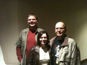 John Kovalic, me, and Chad at StellarCon 36